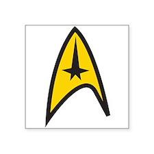 "Gold Shirt Insignia Square Sticker 3"" x 3"""