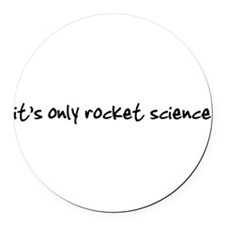 Cool Rocket science Round Car Magnet