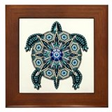 Native American Turtle 01 Framed Tile