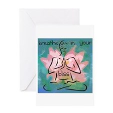 Breathe In Your Bliss Greeting Card