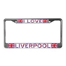 I LOVE LIVERPOOL License Plate Frame