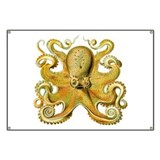 Yellow Octopus Banner