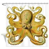 Yellow Octopus Shower Curtain