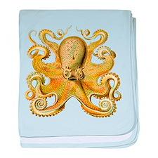 Yellow Octopus baby blanket