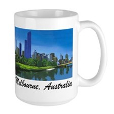 Melbourne Skyline Painting Coffee Mug