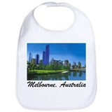 Melbourne Skyline Painting Bib