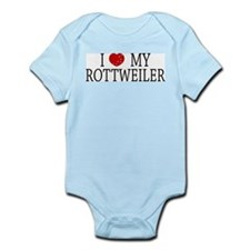 Love Rottweiler Infant Creeper