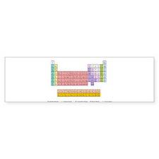 Colorful Periodic Table Bumper Sticker