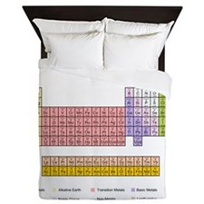 Colorful Periodic Table Queen Duvet