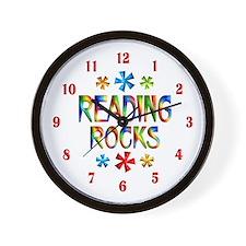 Reading Rocks Wall Clock