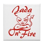 Jada On Fire Tile Coaster