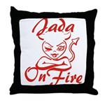 Jada On Fire Throw Pillow
