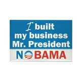I Built My Business Mr. President Rectangle Magnet