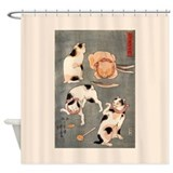 Utagawa Kuniyoshi Cats Shower Curtain