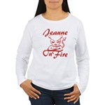Jeanne On Fire Women's Long Sleeve T-Shirt