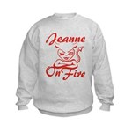 Jeanne On Fire Kids Sweatshirt
