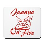 Jeanne On Fire Mousepad