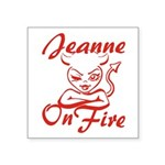 Jeanne On Fire Square Sticker 3
