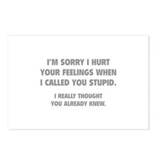 I'm Sorry Postcards (Package of 8)