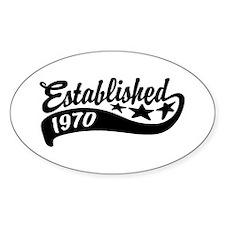 Established 1970 Decal