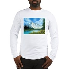 Mountain Spring Landscape Long Sleeve T-Shirt