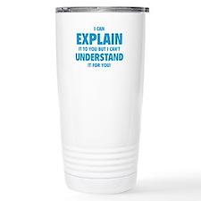 Explain Understand Stainless Steel Travel Mug