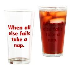 Take A Nap Drinking Glass