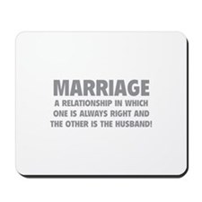 Marriage Mousepad