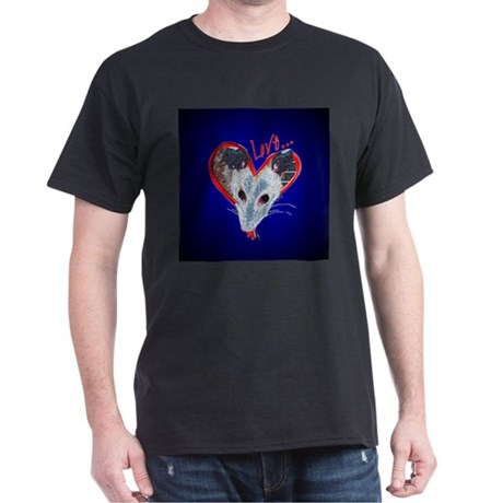 Possum Love Black T-Shirt