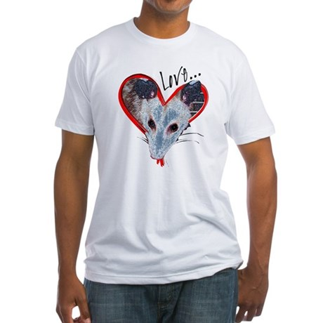 Possum Love Fitted T-Shirt