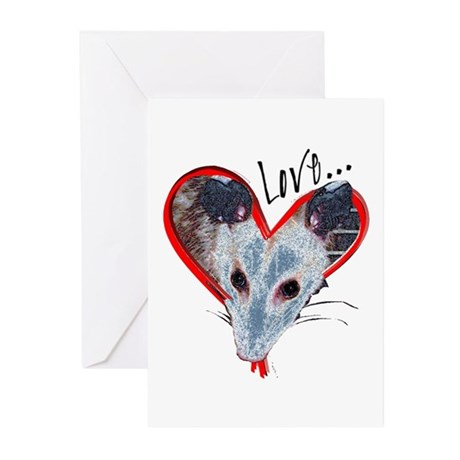 Possum Love Greeting Cards (Pk of 10)