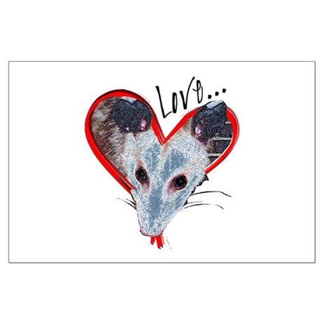 Possum Love Large Poster