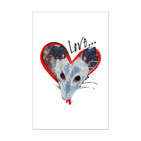 Possum Love Mini Poster Print