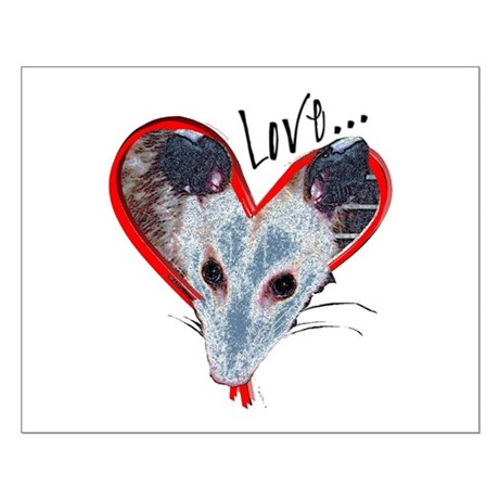Possum Love Small Poster
