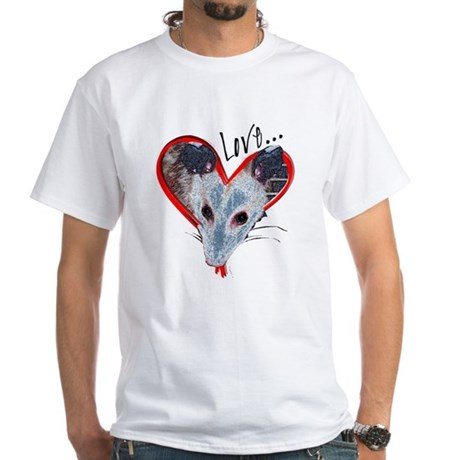 Possum Love White T-Shirt