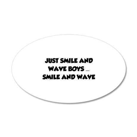 Smile and Wave 38.5 x 24.5 Oval Wall Peel