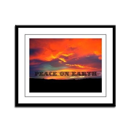 Peace on Earth Framed Panel Print