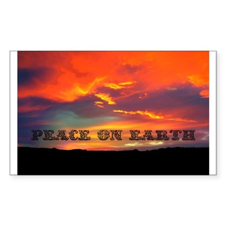 Peace on Earth Sticker (Rectangle)