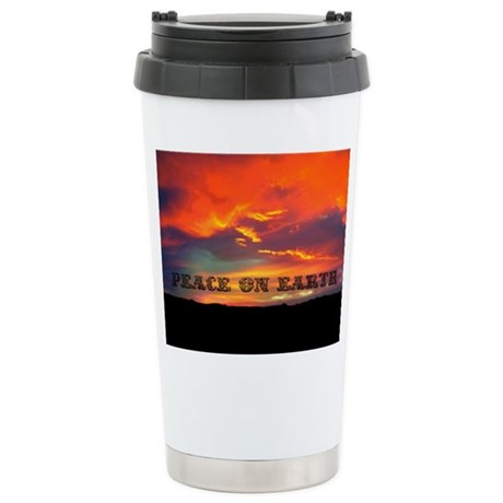Peace on Earth Ceramic Travel Mug