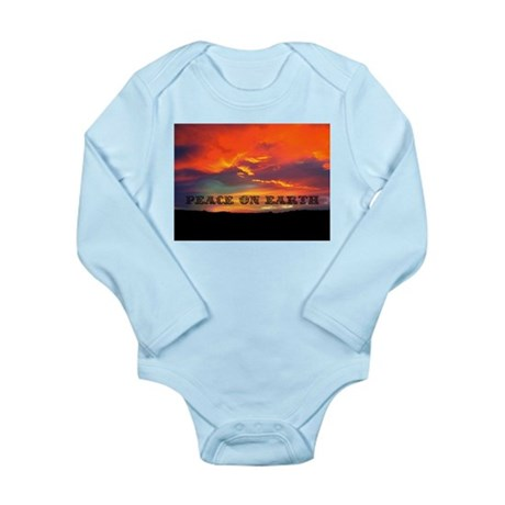 Peace on Earth Long Sleeve Infant Bodysuit