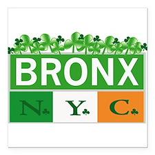 "Bronx Irish New Square Car Magnet 3"" x 3"""