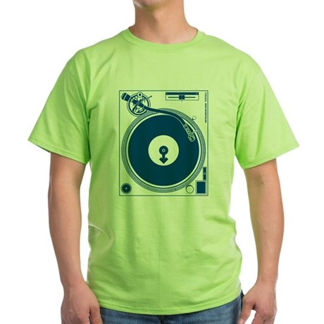 Male Turntable Green T-Shirt