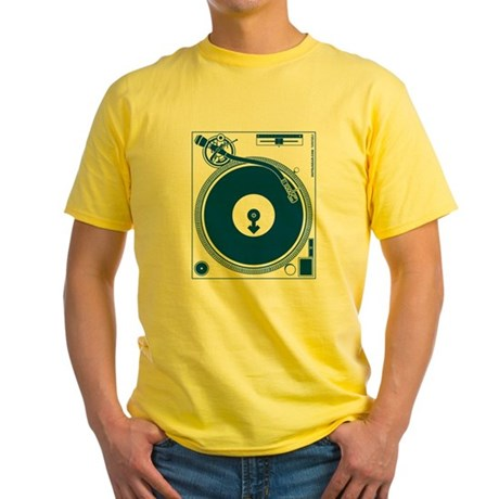 Male Turntable Yellow T-Shirt
