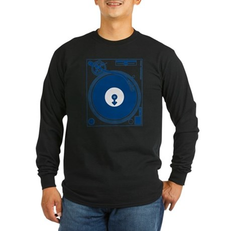 Male Turntable Long Sleeve Dark T-Shirt