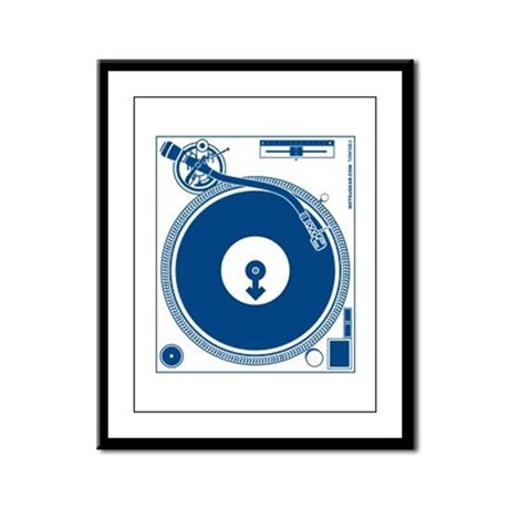 Male Turntable Framed Panel Print