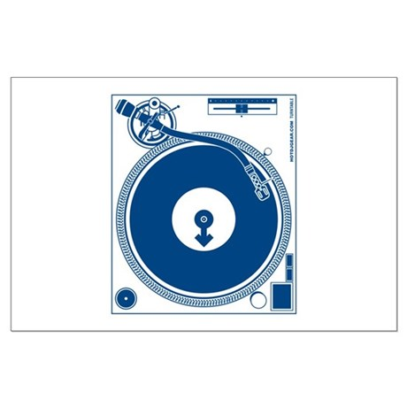 Male Turntable Large Poster