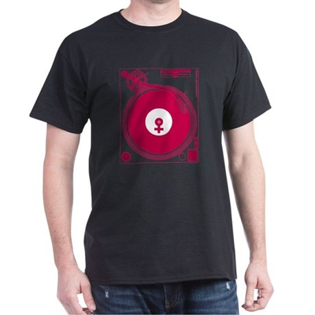 Female Turntable Dark T-Shirt