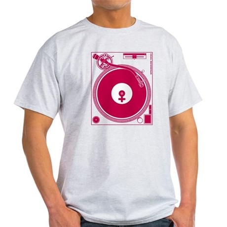 Female Turntable Light T-Shirt