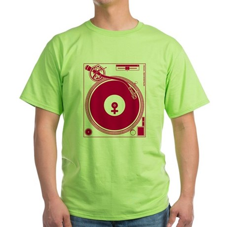Female Turntable Green T-Shirt