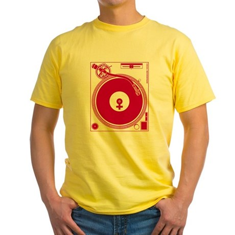 Female Turntable Yellow T-Shirt